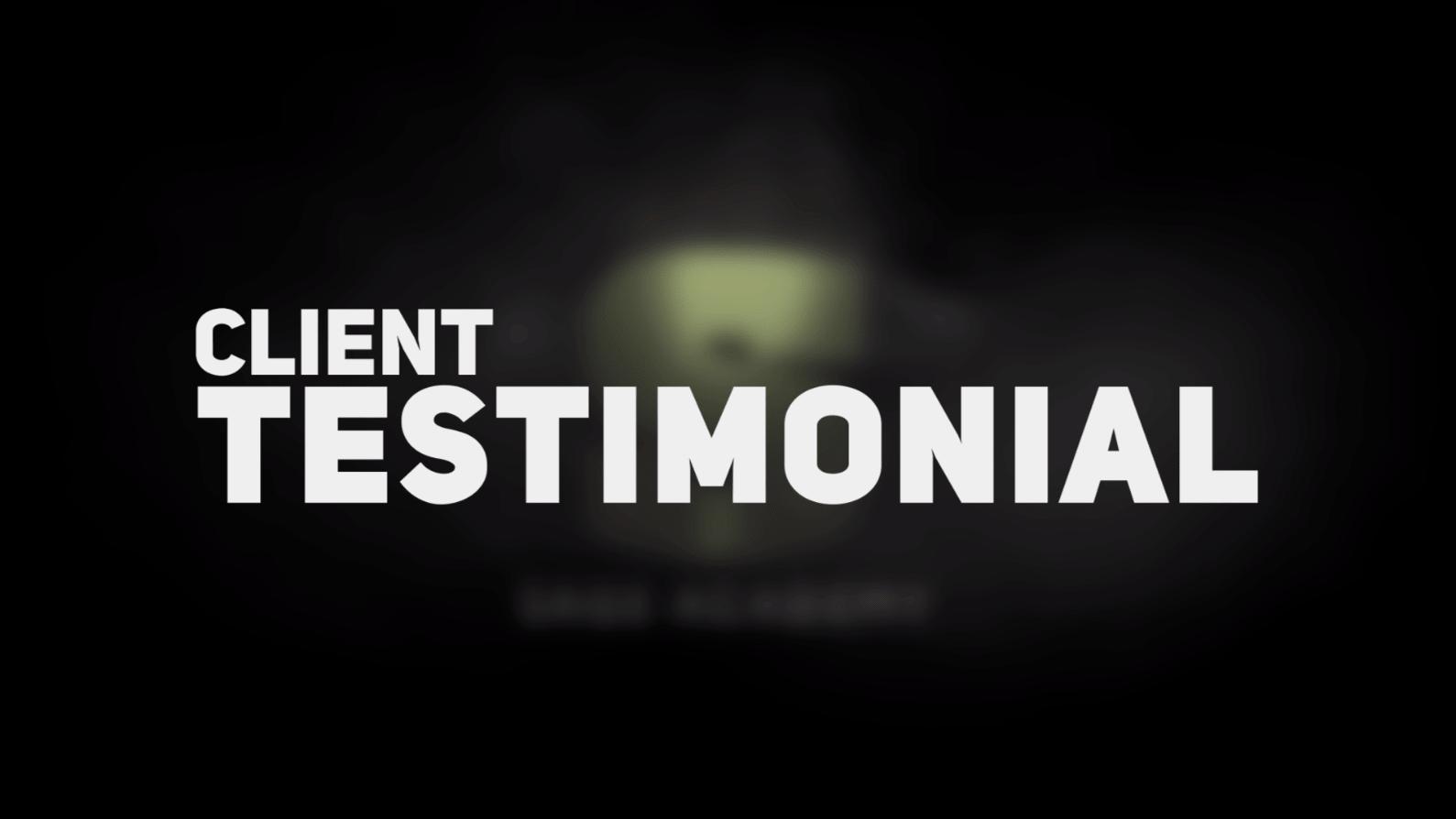 Client Testimonial Thumbnail